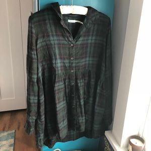 Urban Outfitters flannel tunic dress!